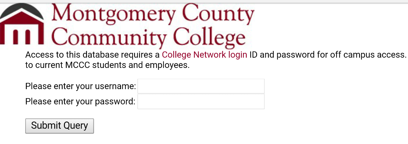 Login with college logo